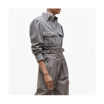 (나연 착용) 이자벨 마랑Florrie울 블렌드 셔츠 $565 → $277.38