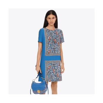토리버치 프린트 쉬프트 드레스 $448 → $188.3
