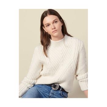 산드로 청키 니트 울 스웨터 $395 → $197.5