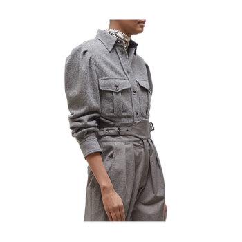 (나연 착용) 이자벨 마랑Florrie울 블렌드 셔츠 $565 → $256