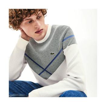 (안승균 착용) 라코스테 맨 크루넥 자카드 스웨터 $225 → $111.99