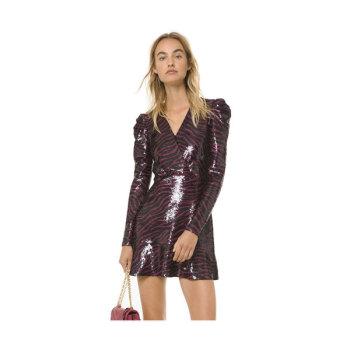 (신민아 착용) 마이클 마이클 코어스 타이거 시퀸 드레스 $350 → $175.09