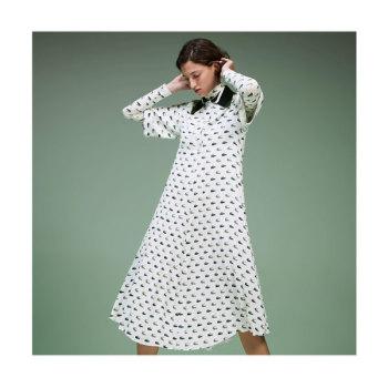 (최화정 착용) 라코스테 로고 프린트 폴로 드레스 $450 → $269.99