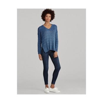 (제니 착용) 폴로 랄프로렌 우먼 케이블 니트 스웨터 $125 → $53.99