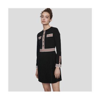 (우아한 가 임수향 착용) 마쥬 ROULI 콘트라스트 스트라이프 드레스 250유로 → 157.5유로