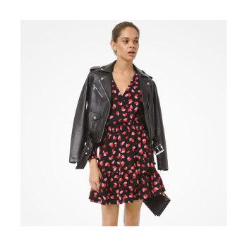 (이사배 착용) 마이클 마이클 코어스 크레이프 랩 러플 드레스 $155