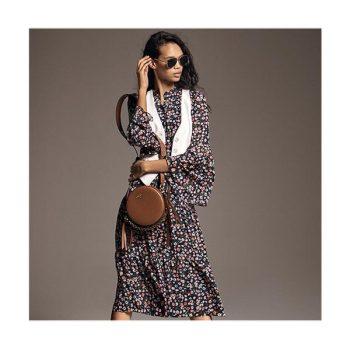 (조이 착용) 마이클 마이클 코어스 플로럴 조젯 드레스 $175