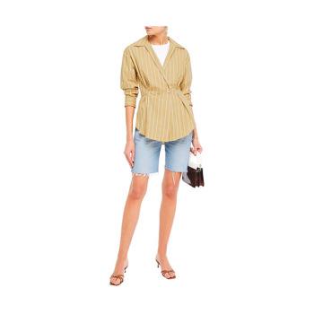 (제니 착용) 산드로 스트라이프 셔츠 $251 → $108.37