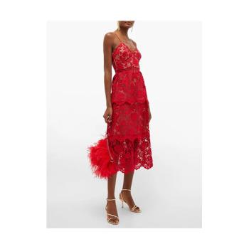 (제니 착용) 셀프 포트레이트 플로럴 기퓌르 레이스 드레스 $345 → $293.25