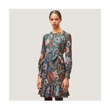 토리버치 플로럴 프린트 실크 드레스 $548 → $179