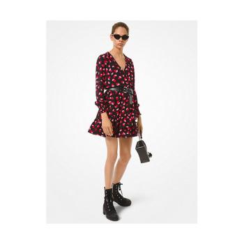 (이사배 착용) 마이클 마이클 코어스 크레이프 랩 러플 드레스 $155 → $69.75
