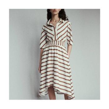 (봄밤 한지민 착용) 마쥬 ROMALA 스트라이프 셔츠 드레스 275유로 → 137.5유로