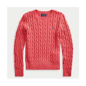 폴로 랄프로렌 걸즈 케이블 니트 스웨터 $55 → $23.09
