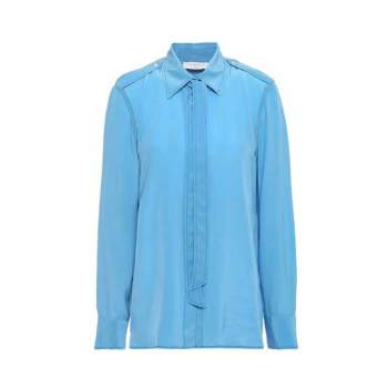 산드로 타이넥 실크 셔츠 $263 → $55.25