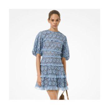 (조이 착용) 마이클 마이클 코어스 레이스 러플 드레스 $225 →$78.75