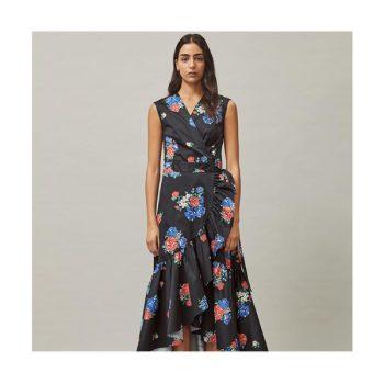 (강민경 착용) 토리버치 플라워 프린트 랩 드레스 $448 → $231.75