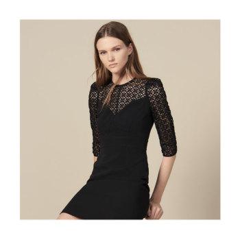 산드로 레이스 인서트 드레스 $370→ $111