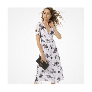 마이클 마이클 코어스 플로럴 버튼 프론트 드레스 $225 →$67.5