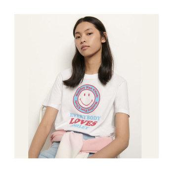 (동상이몽 김민정 착용) 산드로 스마일 티셔츠 $110 → $66