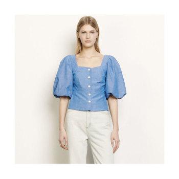 산드로 퍼프 소매 셔츠 $265 → $159