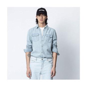 (정해인 착용) 쟈딕 앤 볼테르 맨 SALA 데님 셔츠 $268 → $134