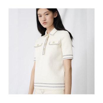 마쥬220MISLA 반팔 폴로 스웨터 $265 → $185.5