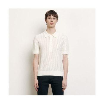 (유아인, 서강준 착용) 산드로 맨 오픈 니트 폴로 셔츠 185유로 → 129.5유로