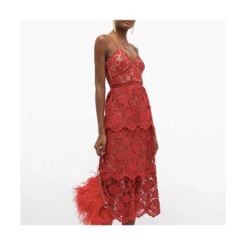 (제니 착용) 셀프 포트레이트 플로럴 레이스 드레스 $345 → $207