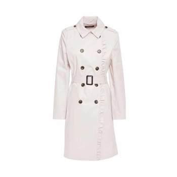 (13시 종료) DKNY 러플 트렌치 코트 $81 → $32.51 + 한국 무료 직배송