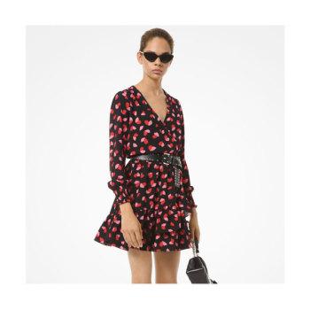 (이사배 착용) 마이클 마이클 코어스 크레이프 랩 러플 드레스 $155 → $65.1