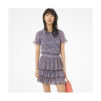 마이클 마이클 코어스 플로럴 티어드 러플 드레스 $175 → $85.75