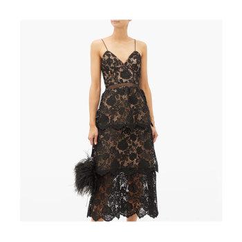 (제니 착용) 셀프 포트레이트 플로럴 레이스 드레스 $345 → $154.8