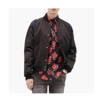 (뷔 착용) 아미리 맨 하트 프린트 실크 셔츠 $900 → $572