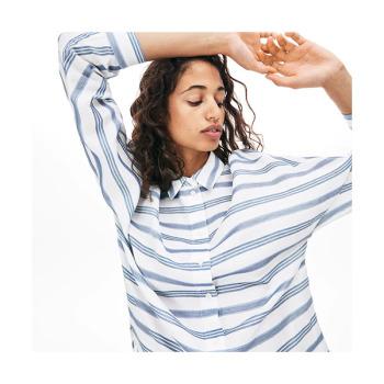 라코스테 루즈 핏 스트라이프 셔츠 $155 → $76.99