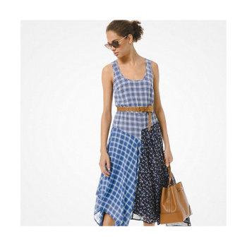 (영혼수선공 정소민 착용) 마이클 마이클 코어스 믹스 체크 조젯 드레스 $175 → $61.25