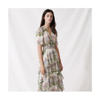 (박민영 착용) 마쥬 220RAFFLE 플로럴 프린트 러플 드레스 $525 → $262.5