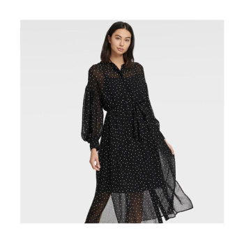 (문정원 착용) DKNY 다이아몬드 패턴 드레스 $179 → $125.3