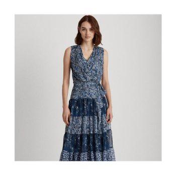 (슈스스TV 한혜연 착용) 로렌 티어드 조젯 드레스 $175 → $119.99
