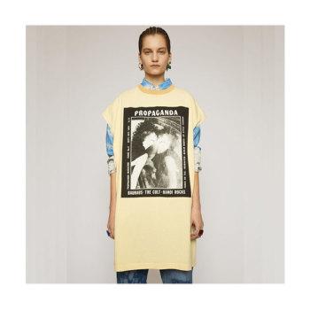 (조이, 이성경 착용) 아크네 스튜디오 매거진 프린트 드레스 $260 → $104