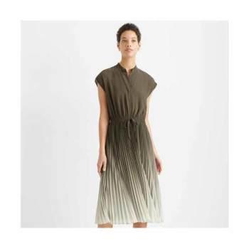 클럽 모나코 옴브레 롱 주름 드레스 $329 → $111.2