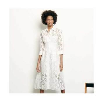 산드로 롱 셔츠 드레스 $545 → $163.5