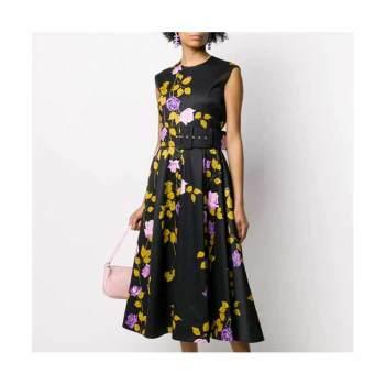 (서예지 착용) MSGM 로즈 프린트 플레어 드레스 868,000원 → 596,000원