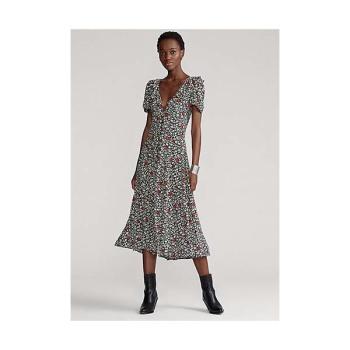 (이하이 착용) 폴로 랄프로렌 플로럴 크레페 드레스 $268
