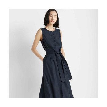 클럽 모나코 민소매 버튼 프론트 드레스 $229 → $90