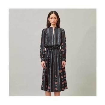 토리버치 프린트 롱 슬리브 드레스 $598 → $199