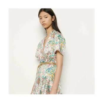 (선미 착용) 산드로 쇼트 러플 드레스 $370 → $177.6