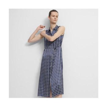 (한다다 이민정 착용) 띠어리 타일 프린트 민소매 셔츠 드레스 $495 → $297