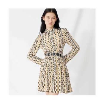마쥬220RIKOLE 스모키드 크레페 드레스 $415 → $99.6