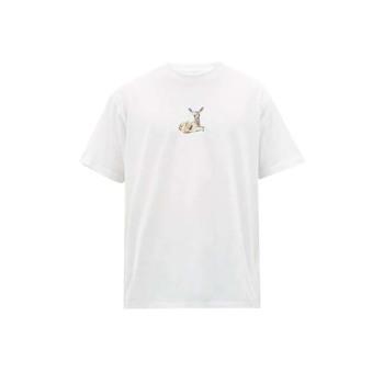 버버리 맨 Deer 프린트 티셔츠 $410 → $260.9