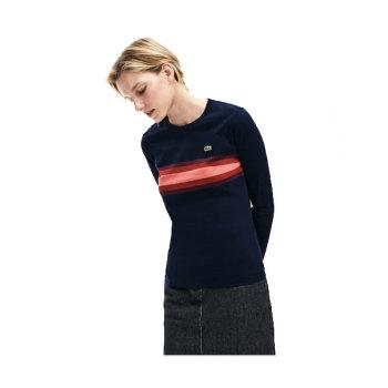 라코스테 멀티 컬러 스트라이프 티셔츠 $80 → $38.39